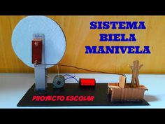 (21) Cómo Hacer Un Sistema Biela Manivela - YouTube Homemade Machine, Robot, Youtube, Toys, Kid, Control System, School Projects, How To Make, Manualidades