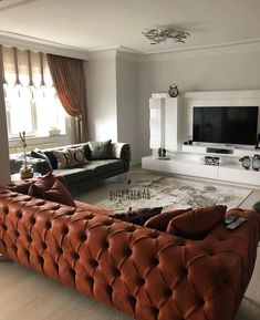 The harmony of differences instead of monotony. Büşra lady's wonderful decoration . Living Room Designs, Living Room Decor, Home Design, Decoration Table, Dream Decor, Dream Bedroom, Home Furniture, Family Room, Couch