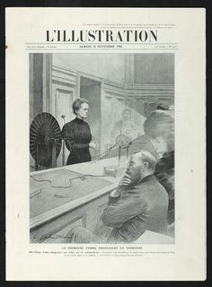 """An exhibition at New York's Grolier Club, """"Extraordinary Women in Science & Medicine: Four Centuries of Achievement,"""" gathers artifacts and manuscripts from some of the greatest scientific minds. This image gallery features highlights from the show. Marie Curie, Prompts, Professor, Illustration, Physics, Death, University, Science, Magazine"""