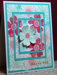 Seongsook's Creations... My Therapy, Your Cards!: Triple Die Cutting Tutorial - THANK YOU card