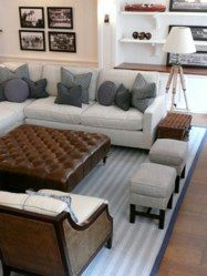 layout-sectional, chairs, two small ottomans