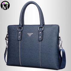 MODA Men Genuine Leather Business Bags 2016 Fashion Design Leather Laptop Handbags for Man Classic Men's Shoulder Messenger Bags