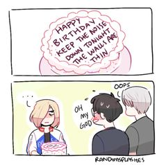 Okay but can we talk about how Yuuri is really flustered but Victor just says oops