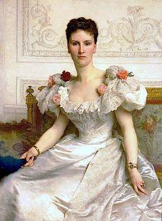 Madame la Comtesse de Cambaseres 1895 Adolphe-William Bougeureau Ecquisite