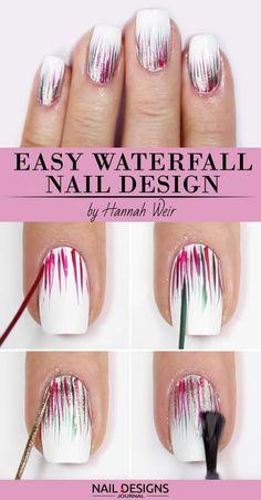 Nail Art Diy, Cool Nail Art, Diy Nails, Cute Nails, Manicure Ideas, How To Nail Art, Nail Designs Easy Diy, Best Nail Art Designs, Beautiful Nail Designs
