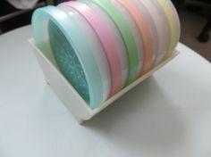 Mid Century Rainbow Pastel Colors Tupperware by HolySerendipity