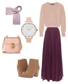 """Holiday"" by fashionforhijab on Polyvore featuring Halston Heritage, The Elder Statesman, Franco Sarto, Chloé and Olivia Burton"