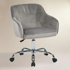 One of my favorite discoveries at WorldMarket.com: Gray Velvet Jozy Home Office Chair