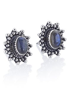 Shop Dixi Fiery Labradorite Burst Earrings  from our A/W Supernova collection in store now at www.shopdixi.com .|. moonstone .|. crescent moon .|. rings .|.  gypsy .|. jewellery .|. jewelry .|. boho .|. bohemian .|. hippie .|. silver .|. earrings .|. gypset .|.  Labradorite .|.