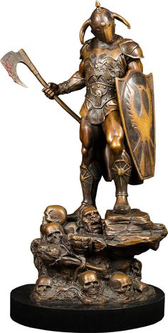 Frank Frazetta Death Dealer Faux Bronze Statue by Quarantine Sculpture Clay, Bronze Sculpture, Pale Horse, Rest, Frank Frazetta, Sideshow Collectibles, Art Model, Dark Art, Sculpting
