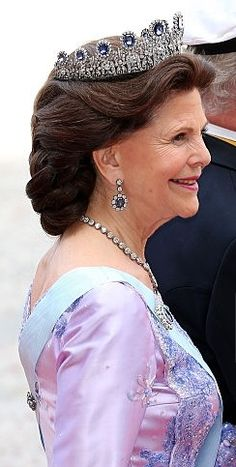 Queen Silvia of Sweden at the wedding of Prince Carl Phillip and Sofia Hellqvist - 13.06.15