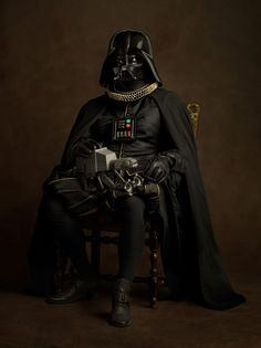 Movie characters like Darth Vader reimagined as Elizabethan paintings. Genius! #StarWars