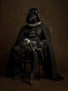 Movie characters like Darth Vader reimagined as Elizabethan paintings. Genius! #StarWars