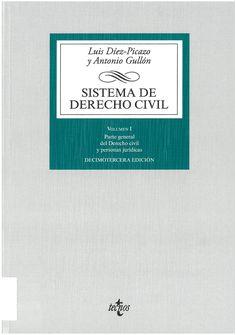 Luis Díez Picazo, Antonio Gullón : Sistema de Derecho civil. Madrid : Tecnos, 2016, 5 v.