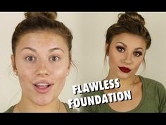 Flawless Full Coverage Foundation Routine  |  Tutorial - YouTube