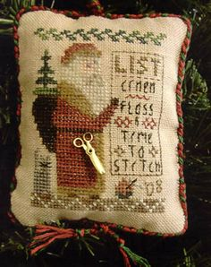 click here to view larger image of Santa, Please Bring Me... (2008 Ornament  w/charm) (chart)