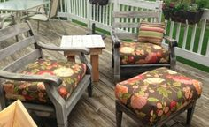 almost no sew box cushions easy peasy, outdoor furniture, outdoor living, reupholster