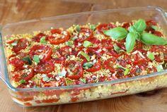 Pomidory zapiekane z kaszą jaglaną