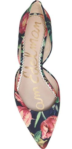 Yes!  Floral d'Orsay Flats