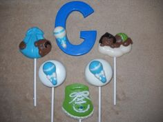 1 chocolate baby shower rattle 3x4 molded letter lollipop lollipops | sapphirechocolates - Edibles on ArtFire