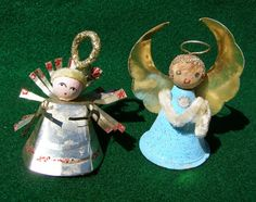 Vintage Spun Cotton & Pipe Cleaner Santas and Angels by modhare