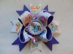 My Little Pony Hair Bow by PattycakePals on Etsy, $5.00