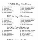 FREEBIE: My students complete 10 stations of 10 on the 100th day. We use a 12