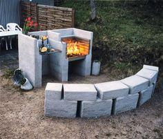 Bygg en egen utegrill i trendig betong. Det är lättare än du tror. Den svåra biten kommer när du ska grilla, det blåset och regnar ute och gästerna ser hungrigare oc h hungrigare ut.... BILDSPECIAL: Så fixar du en betonggrill.