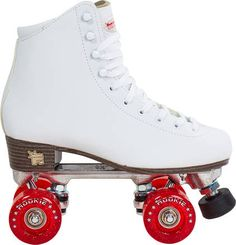 The Rookie Classic embodies the those chic, disco-boogie days. These Rookie quad roller skates have a timeless design which channels that classic. White Roller Skates, Quad Roller Skates, Rollers, Rock And Roll Girl, Roller Skating, Skate Shoes, Classic White, Shoe Box, Converse Chuck Taylor