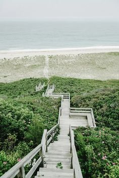 Stairway to Beach on Nantucket Island, Massachusetts New England Road Trip Style Travel Photography with Landscapes and Towns in Summer Fall Winter and Spring Places To Travel, Places To See, Nantucket Island, New England Travel, Foto Art, Beautiful Places, Coastal, Travel Photography, Exterior