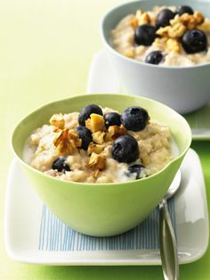 Oatmeal is full of omega-3 fatty acids and folate. Go for steel-cut if you can (it'll say on the box), because it has more fiber and can help lower cholesterol. Recipe from TheNest.com