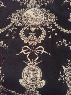 Black Toile - French Country Style by 5th Avenue and Covington | GR2Design on Etsy