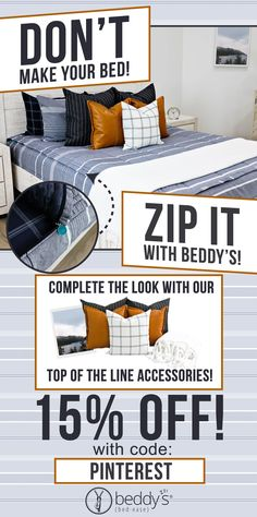 """Start your morning off right! With Beddy's we make it easy. All you do is zip! Use code """"PINTEREST"""" for a discount. #beddys #beddysbeds #zipperbedding #zipyourbed #bunkbeds Girls Bedroom, Bedroom Ideas, Bedroom Decor, Beddys Bedding, Zipper Bedding, Shared Bedrooms, Make Your Bed, Small Rooms, Bunk Beds"""