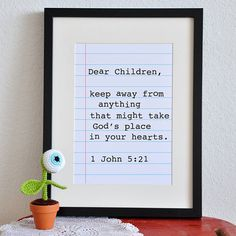 1 John 521 DIY Printable Christian Poster by PrintableScripture, $5.00