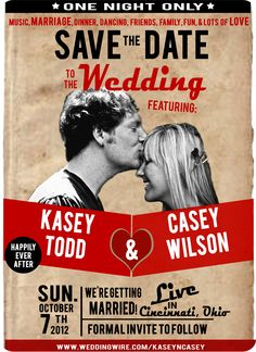 Our Vintage Concert Poster Inspired Save The Dates =)