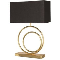 Renwil Scion Table Lamp Black By (€275) ❤ liked on Polyvore featuring home, lighting, table lamps, gold lamp, rectangular table lamp, black lights, rectangular lamp and onyx lamp