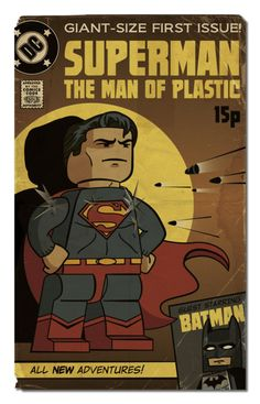 LEGO Superman The Man of Plastic Comic Book #lego #legosuperman #legominifigure #legocomic #legocomic #comicbook