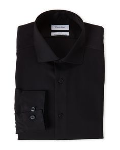 Calvin Klein Black Slim Fit Dress Shirt