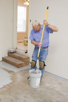 Painting cement floor