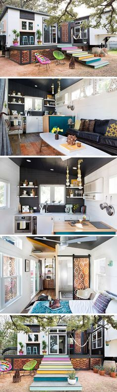 A 380 sq ft house made from two trailers and remodeled into a stunning home.