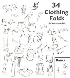 34 Clothing Folds by WatermelonOwl.deviantart.com on @deviantART