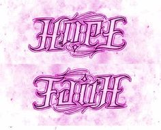 Faith/Hope Ambigram - Love this for a side tat... changes depending on which way you look at it.