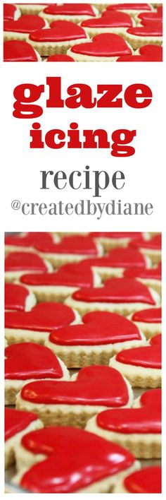 this glaze icing is perfect for so many baked goods, great to top cookies with, scones, cakes and is a must have recipe with Christmas Cookies @createdbydiane