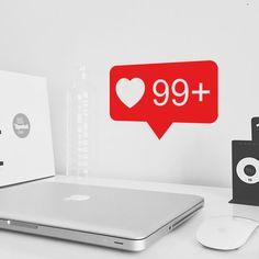 Stickers réseaux sociaux 99 likes disponible sur www.optimistick.fr