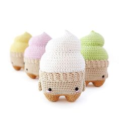 cool and the gang #lalylala #lalylaland #lalylala4seasons #icecream #icecreamSmila #softeis #softserve #amigurumi #amigurumilove #crochetlove #instacrochet #summer