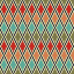 Dikişsiz rhombus örgü modeli — Stok Vektör © OliaFedorovsky #41577943