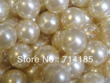 100 pçs/lote branco pérola Chunky Beads 20 mm Chunky Gumball Beads imitação pérola fumaça branca(China (Mainland))