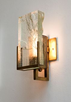 Lianne Gold, rubbed bronze and glass sconce. Organic and architectural. Gorgeous, statement piece.