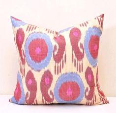 Accent ikat pillow