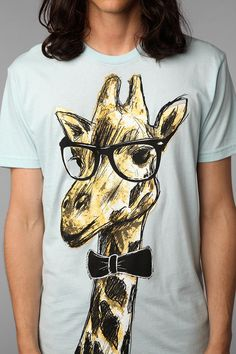 Gentleman Giraffe Tee  #UrbanOutfitters